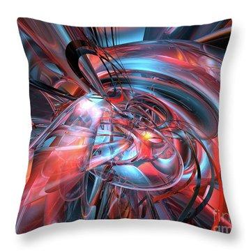 Dance Of The Glassmen Fx Throw Pillow by G Adam Orosco