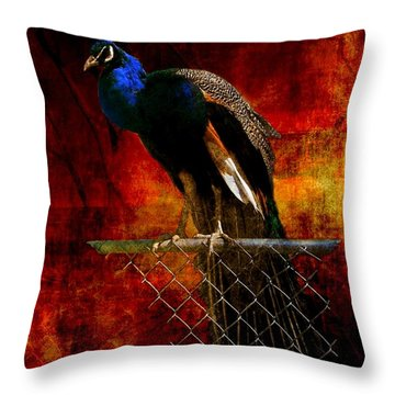 Dancer In The Dark Throw Pillow by Leah Moore