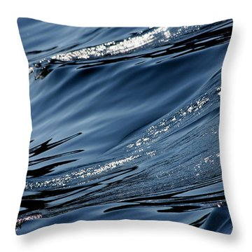 Dancing Waves Throw Pillow by Marie Jamieson