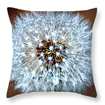 Dandelion Seed Throw Pillow by Marty Koch