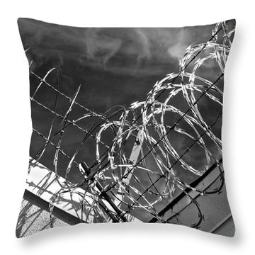 Danger Zone Throw Pillow by Gwyn Newcombe