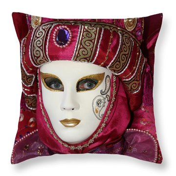 Danielle's Portrait Throw Pillow by Donna Corless