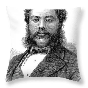 David Kalakaua (1836-1891) Throw Pillow by Granger