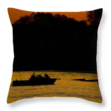 Day Of Fishing Is Over Throw Pillow by Karol Livote