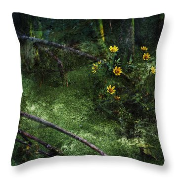Deep Into Nature Throw Pillow by Bonnie Bruno