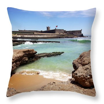 Defense Fort Throw Pillow by Carlos Caetano