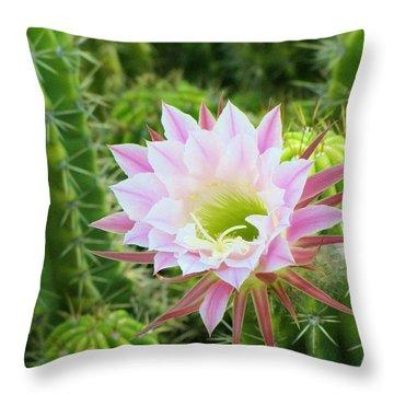 Delicate Bloom Throw Pillow by FeVa  Fotos