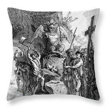 Destruction Of Idols, C1750 Throw Pillow by Granger