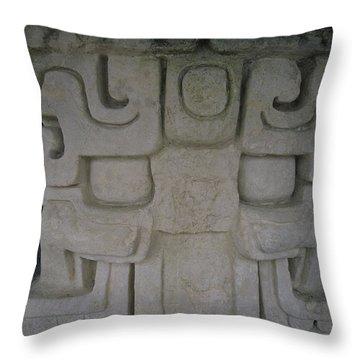 Detail Of A Stucco Frieze, Located Throw Pillow by Stephen Alvarez