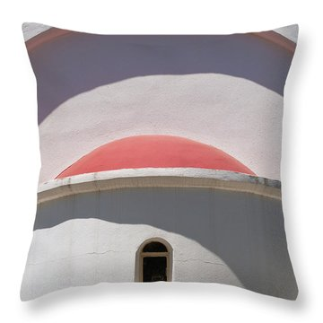 Detail Of Small Church Between Limnes Throw Pillow by Axiom Photographic