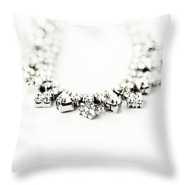 Diamonds Throw Pillow by Stephanie Frey