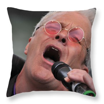 Dicey Riley Frontman Throw Pillow by Mike Martin
