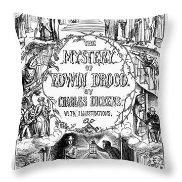 Dickens: Edwin Drood Throw Pillow by Granger