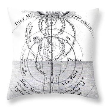 Dies Microcosmicus, Nox Microcosmica Throw Pillow by Science Source