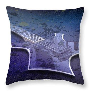 Digital-art E-guitar I Throw Pillow by Melanie Viola