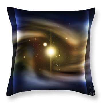 Digitally Generated Image Of Deep Space Throw Pillow by Vlad Gerasimov
