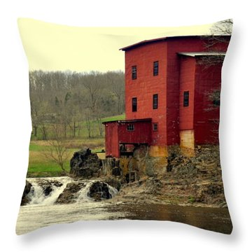 Dillard Mill 2 Throw Pillow by Marty Koch
