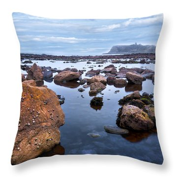 Distant Castle View Throw Pillow by Svetlana Sewell