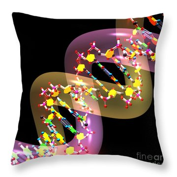 Dna 38 Throw Pillow by Russell Kightley