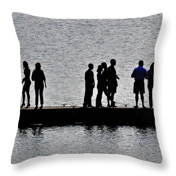Dock Party Throw Pillow by Lisa Plymell