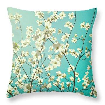 Dogwood Tree Throw Pillow by Kim Fearheiley