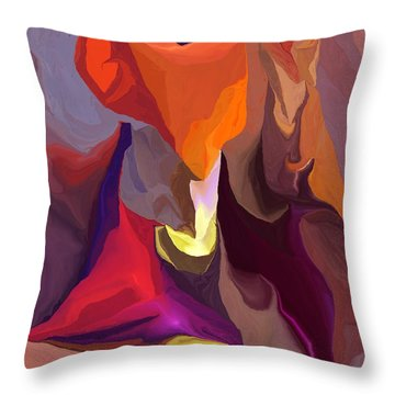 Don't Think About Elephants Throw Pillow by David Lane