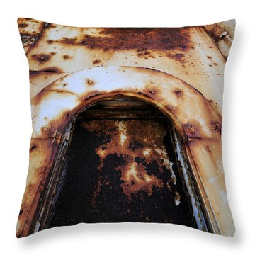 Door Of Rust Throw Pillow by David Lee Thompson