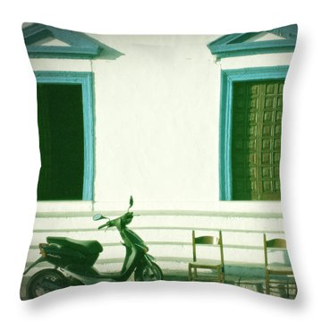 Doors And Chairs Throw Pillow by Joana Kruse