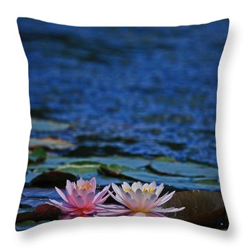 Double Lily Throw Pillow by Karol Livote