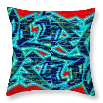 Double Trouble 2 Throw Pillow by Randall Weidner