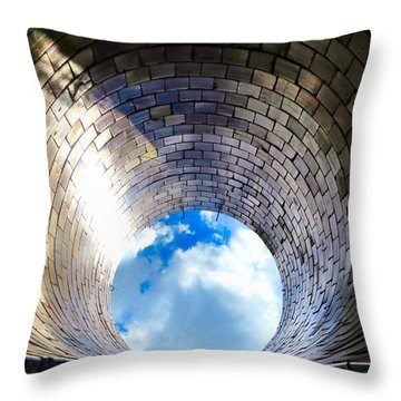 Down The Hole Throw Pillow by Michelle Milano