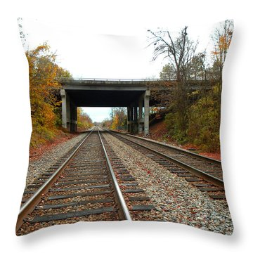 Down The Lines Throw Pillow by Sandi OReilly
