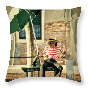 Down Time Throw Pillow by Marion Galt