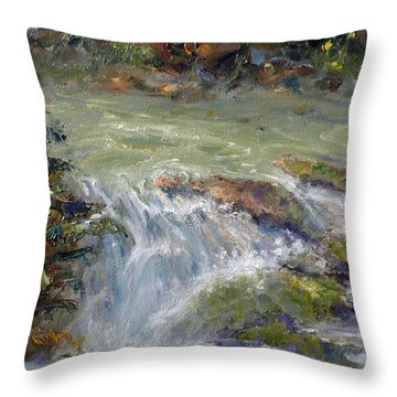 Downstream Throw Pillow by Marie Green