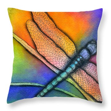Dragonfly Throw Pillow by Dion Dior