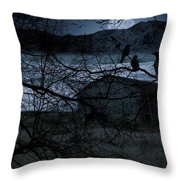 Dreadful Silence Throw Pillow by Lourry Legarde
