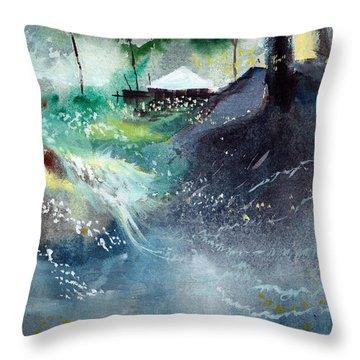 Dream House 2 Throw Pillow by Anil Nene