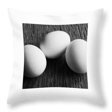 dreierlEi Throw Pillow by Priska Wettstein