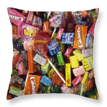 Dulces I Throw Pillow by Anna Villarreal Garbis
