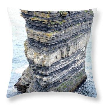 Dun Briste Throw Pillow by Marion Galt