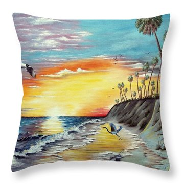 Dune Sunset Reflections Throw Pillow by Riley Geddings
