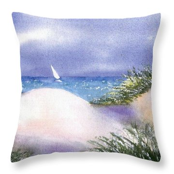 Dune View Throw Pillow by Joseph Gallant