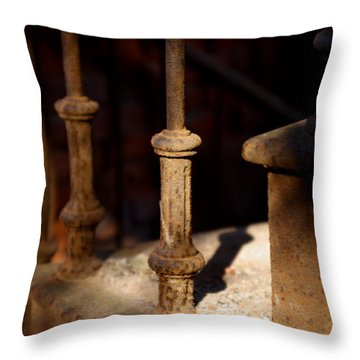 Dusk Rail Throw Pillow by Maglioli Studios