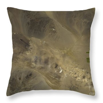 Dust Storm In Southern California Throw Pillow by Nasa