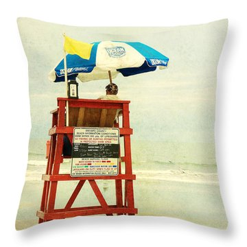 Duty Time Throw Pillow by Susanne Van Hulst