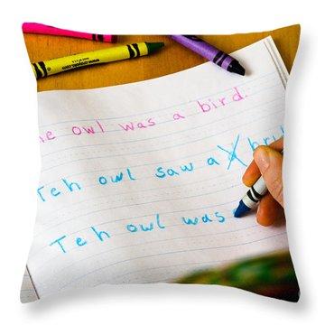 Dyslexia Testing Throw Pillow by Photo Researchers Inc