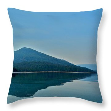 Eagle Lake Blues Throw Pillow by Kirsten Giving