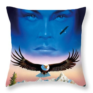Eagle Mountain Throw Pillow by MGL Studio - Chris Hiett