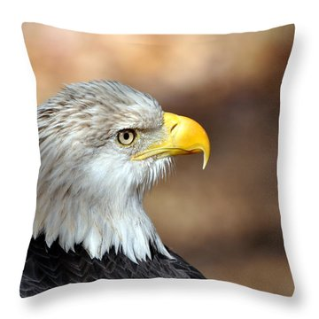 Eagle Right Throw Pillow by Marty Koch