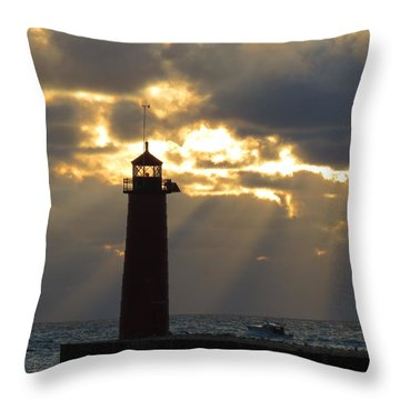 Early Morning Rays Throw Pillow by Kay Novy